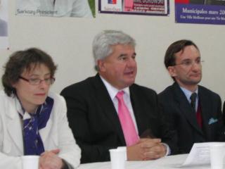 Evelyne Nicol avec Eric Raoult et Jean-Pierre Renard